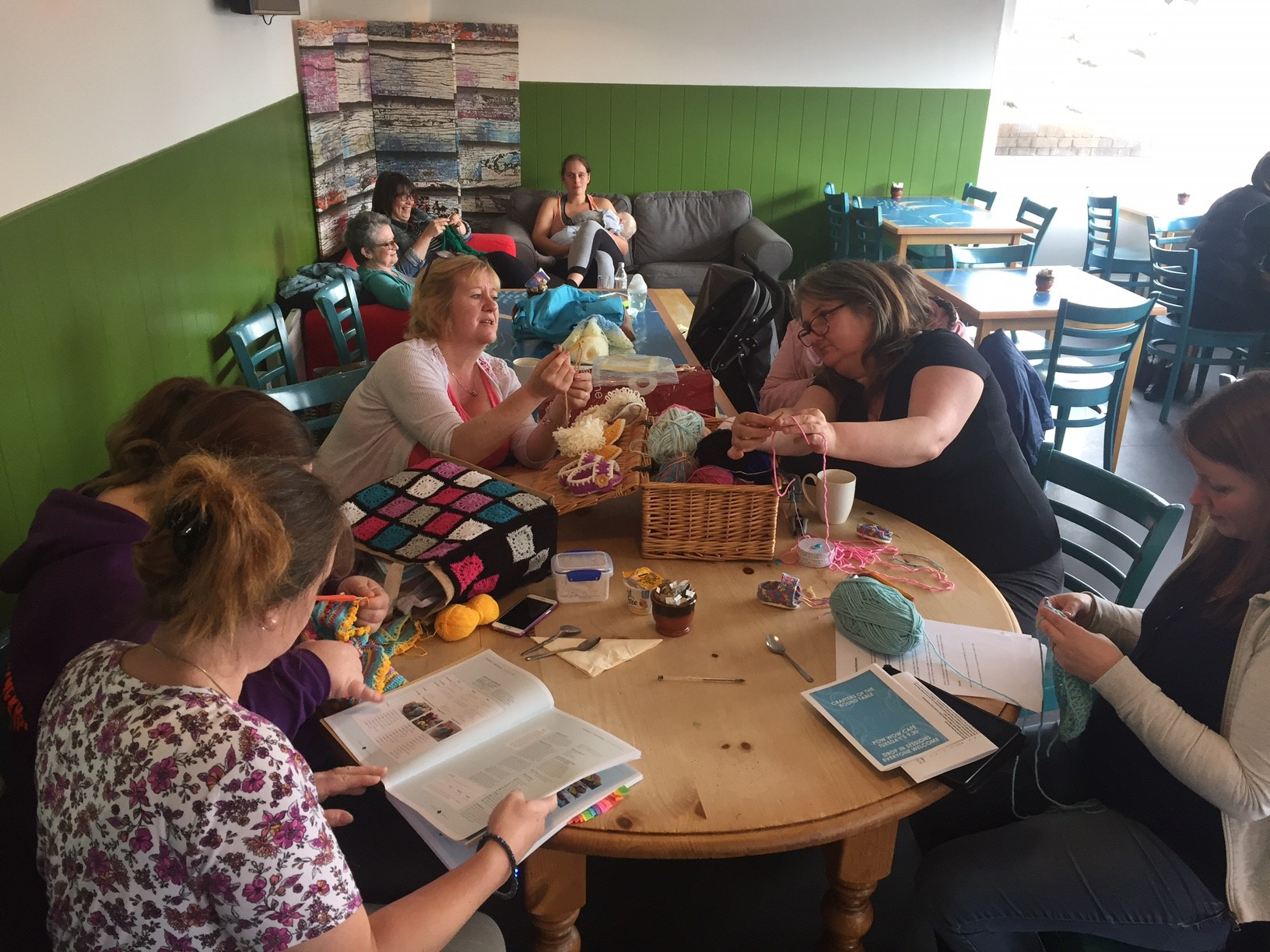 Teignmouth's Pow Wow cafe & the Crafters of Round Table
